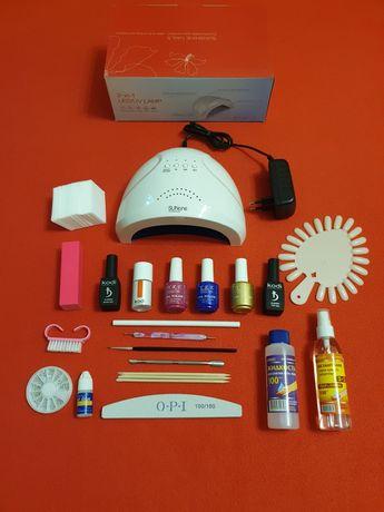 Стартовый набор для маникюра лампа SunOne 48Вт + Kodi База Топ Праймер