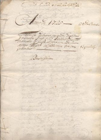 Manuscrito de Évora de 24 de out de 1725 - foro