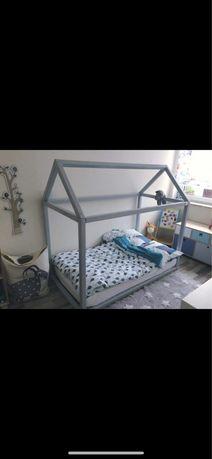 Łóżko domek filigran HOUSE plus stelaż i materac