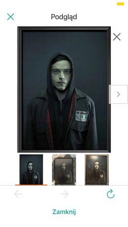 Plakat Mr Robot Rami Malek z czarną antyramą