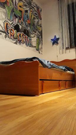 Łóżko młodzieżowe Rama ze stelażem
