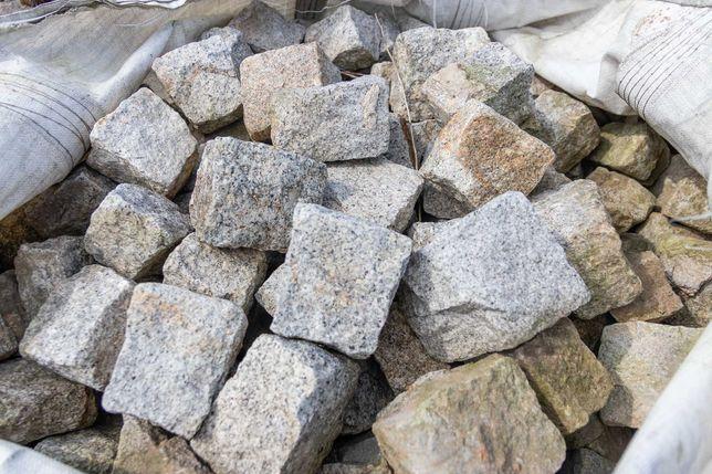 Kostka granitowa rozbiórkowa szara
