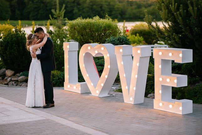 Dekoracje ślubne Napis LOVE i inne