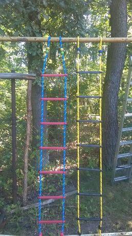 DRABINKA 2 m lina 14 mm plac zabaw liny wspinaczkowe małpi gaj