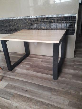 ława  stół loft  stolik drewniany 75x54