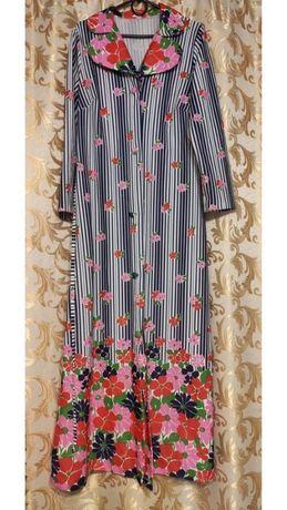 Яркое платье-рубашка, винтаж, идеальное состояние