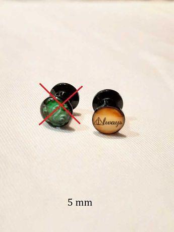 Tunel plug piercing, akryl 5 mm, Harry Potter