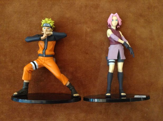NARUTO e Sakura + base Figuras Altaya novas -Bonecos em PVC -cada 12 €