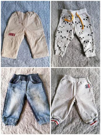 Spodenki 4 pary, dresy, jeansy, materiałowe, bawełniane 68