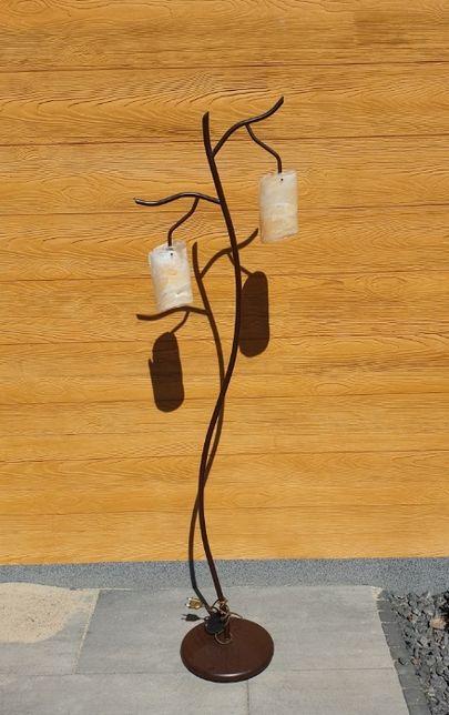 Lampy do salonu / szklane klosze / stojąca i wisząca