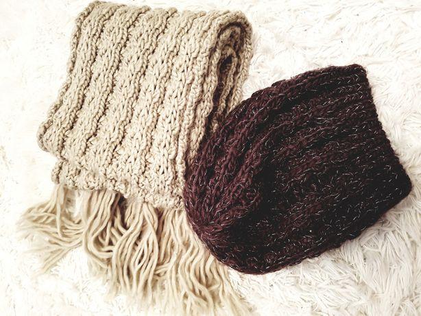 Monnari zestaw szalik plus czapka szal wełna