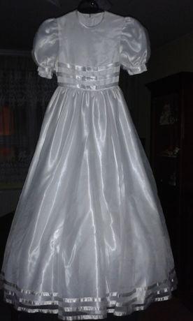 Sukienka komunijna, księżniczka, balowa, strój anioła, alba, komunia
