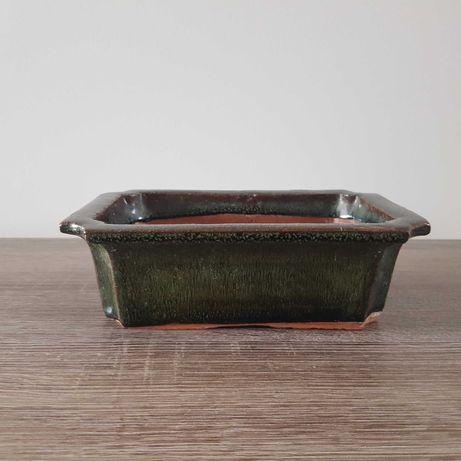 Zielona Doniczka ceramiczna,Bonsai