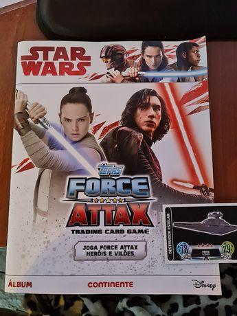 STAR WARS Trading card games Jogo Force Attax Heróis e Vilões Album