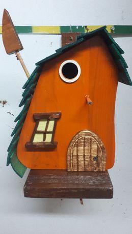 domek budka lęgowa zielony dach