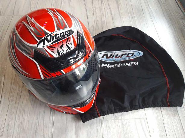Kask motocyklowy Nitro N330-VX M 58 czerwony jak nowy