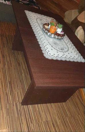 Brązowa ława stolik