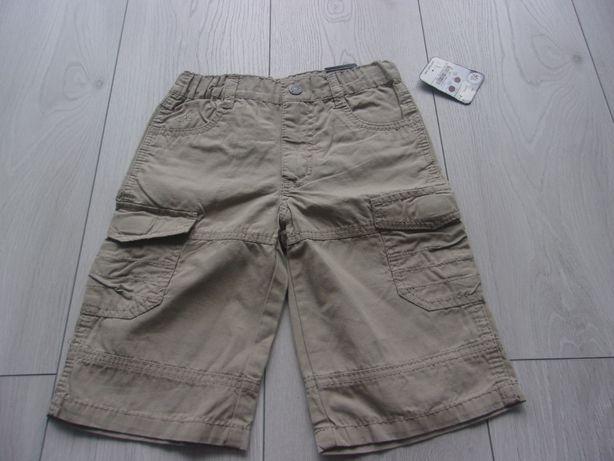 spodenki spodnie szorty bojówki 104 nowe 4 lata