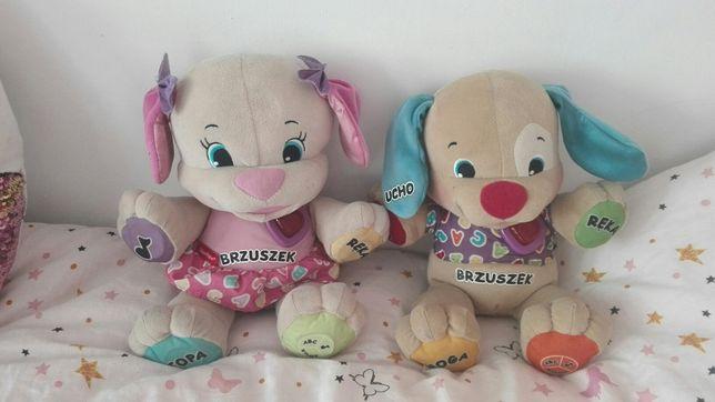 Mis szczeniaczek uczniaczek i jego siostra Fisher Price mis edukacyjny