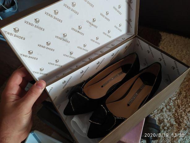 Балетки туфли замша