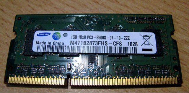 Модуль памяти для ноутбука SODIMM DDR3-1066 1GB PC3-8500