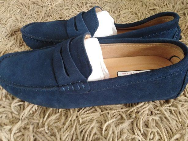 skórzane mokasyny, pantofle