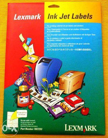 Etiquetas para Impressão Lexmark