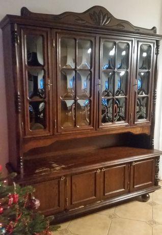 Komplet mebli do salonu firmy Swarzędz - stare, antyczne stylowe meble