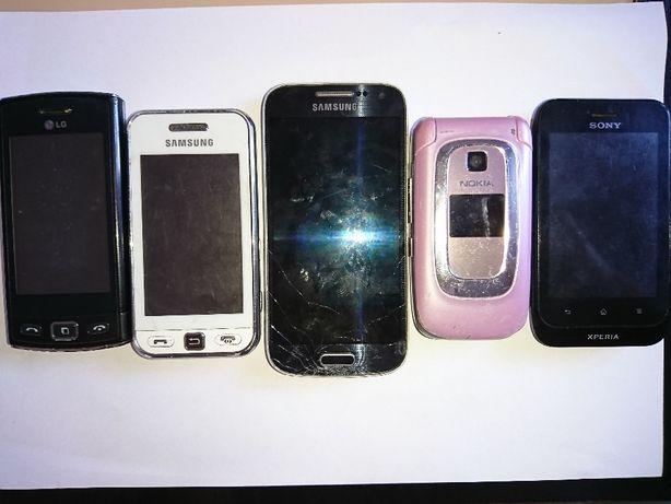 7 szt Stare telefony komórkowe