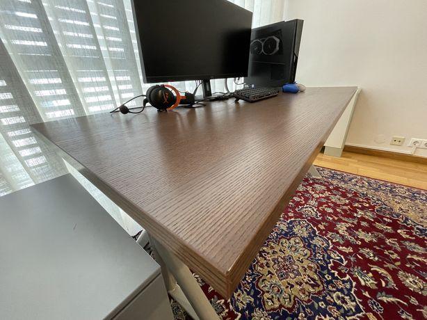 Secretária Ikea - IDÅSEN 160x80 cm castanho/bege - Como Nova
