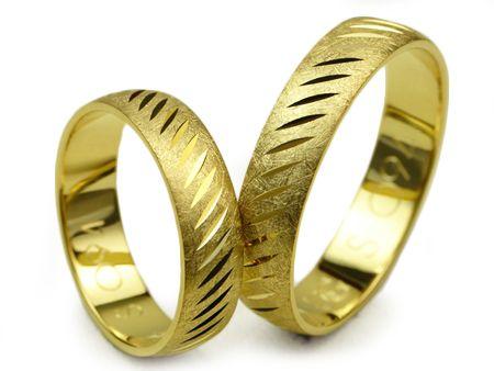 Złote Obrączki Ślubne 585 S094 - Jubiler Goldrun CHORZÓW