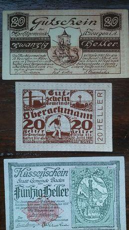 Notgeldy zamienię na banknoty
