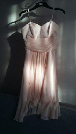 Elegancka sukienka pudrowy róż rozm. 42