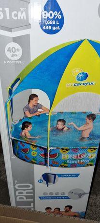 Zadaszenie do basenu 2,44 z natryskiem