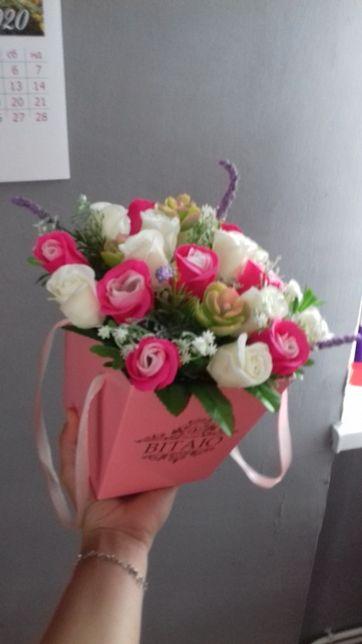 букет з мильних квітів