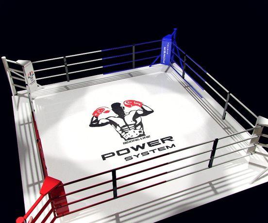 Ринг для бокса, Боксерский ринг, напольный, размер 6х6 метра.