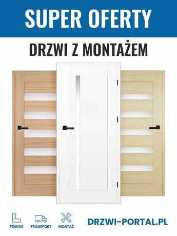 PROMOCJA! Solidne drzwi wewnętrzne - konstrukcja z drewna, laminat CPL