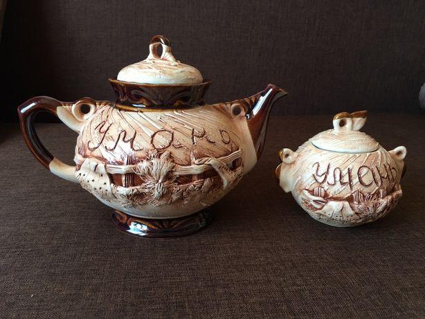 Керамический чайник с сахарницей «Умань»