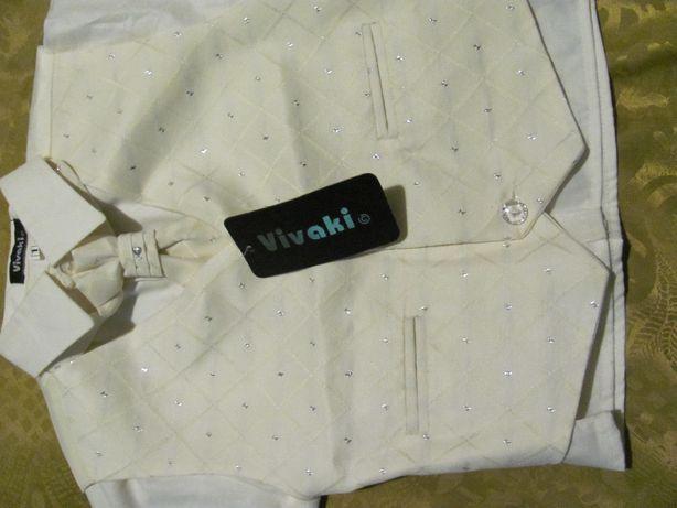 Koszula z kamizelką i musznikiem dla chłopca