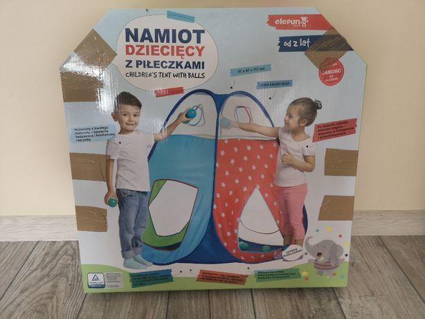 Namiot dziecięcy z piłeczkami