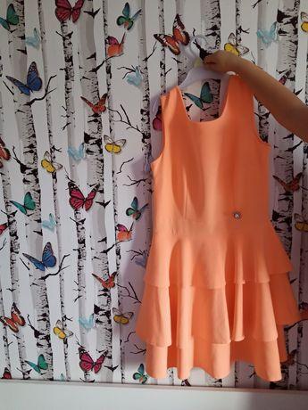 Sukienka rażący pomarańczowy