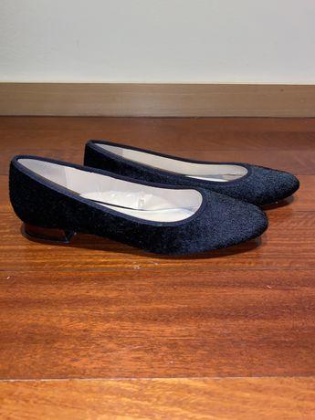 Sabrinas/ Sapatos pretos tam. 37/38