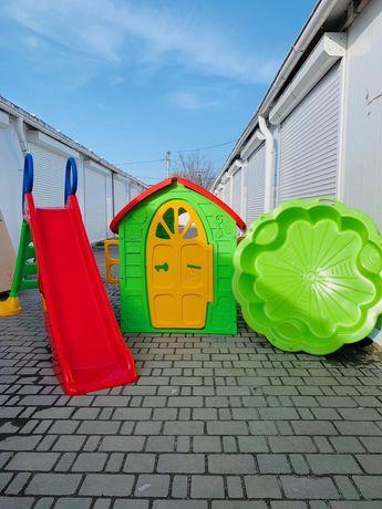 Дитячі ігрові майданчики/Детские игровие площадки!Польща/3в1+песочница
