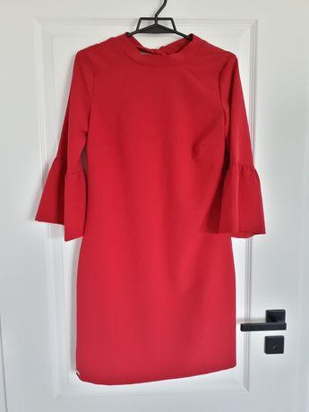 Prosta sukienka fuksja