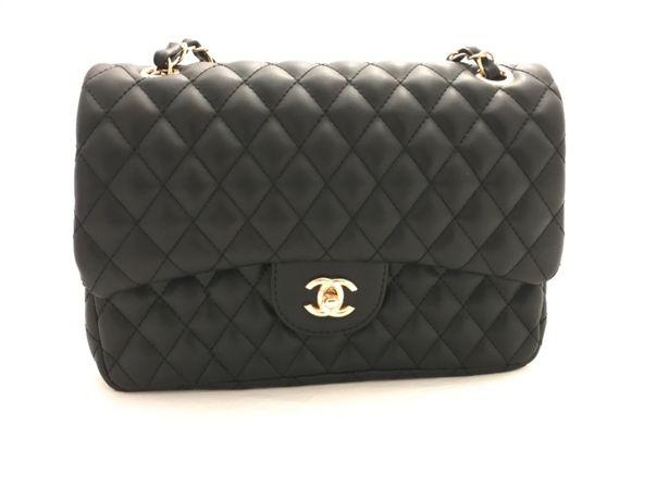 chanel chanelka torebka torba pikowana czarna