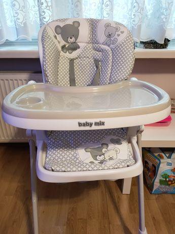 Baby Mix Krzesełko Do Karmienia Infant Grey