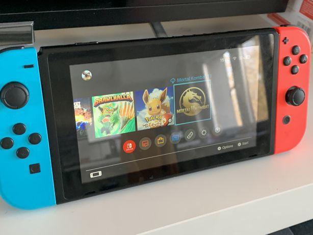 Nintendo Switch + Let's Go Eevee, MK11