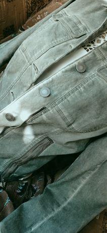 Джинсовая ветровка .джинсовка цвет хакки