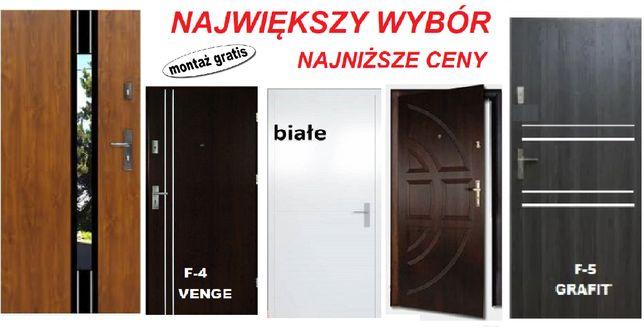 Drzwi wejściowe ZEWNĘTRZNE do mieszkań w BLOKU-domu Z MONTAŻEM