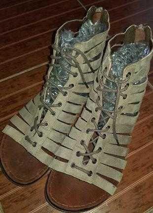 Модные сандалии vagabond. Натуральная замша.